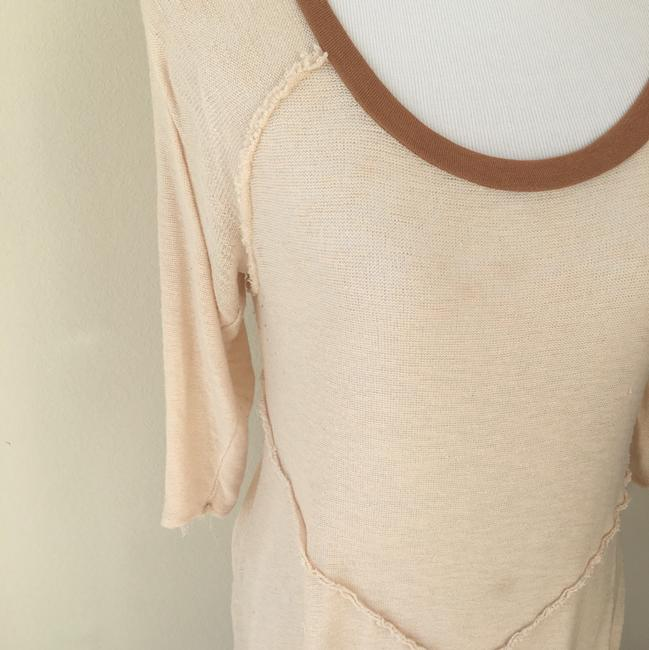 Free People Top Cream and Brown