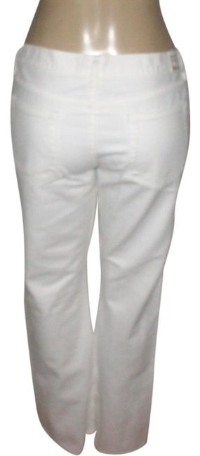 Item - White Coated Cotton Boot Cut Jeans Size 33 (10, M)