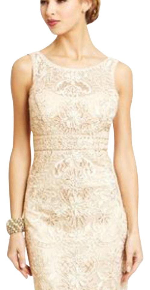 25bc8f4e690dd Sue Wong Gold Golden Lace Mid-length Cocktail Dress Size 6 (S) - Tradesy