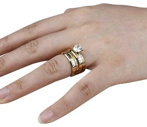 MADE GOLD Gold wedding band high quality stainless steel available in size 7.9.10