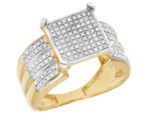Other 10K Yellow Gold Real Diamond Ladies Square Engagement Ring 1/2 CT