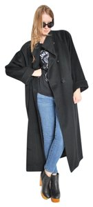 Dior Vintage Comfortable Wool Oversized Satin Trench Coat