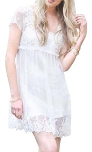Free People short dress Ivory Lace Fp New Easter Spring Summer Bohemian Chic White Mesh on Tradesy