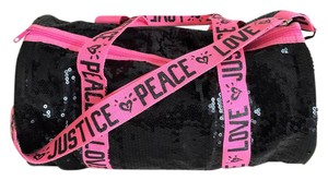 Justice Juicy Couture Duffel Black & Hot Pink Travel Bag