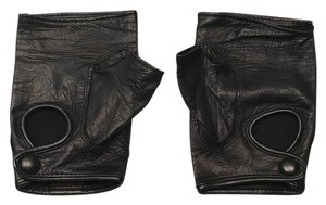 Sermoneta Gloves Sermoneta Black Italian Leather Womens Driving Gloves Sz. 6.5
