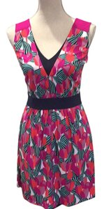 Tory Burch short dress pink multi on Tradesy