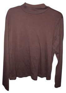 1775 Mock Turtleneck Marine Corps Long Sleeve Cotton Blend New With Tags Top Brown