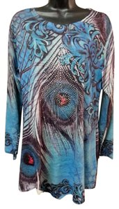 India Boutique Paisley Crystal Tunic