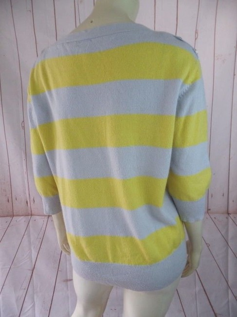 Urban Outfitters Cashmere Striped 3/4 Sleeves Thin Knit Sweater