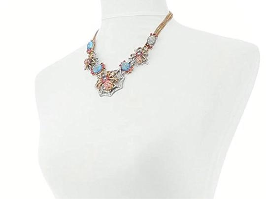 Betsey Johnson Betsey Johnson Two-Tone Pave Spider Web Statement Necklace