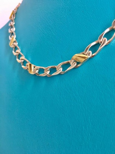Tiffany & Co. STUNNING Cuban Mariner Chain Link Necklace 18k Yellow Gold!!