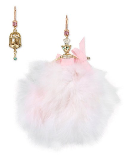 Preload https://img-static.tradesy.com/item/21124706/betsey-johnson-gold-tone-ballerina-mouse-and-birdcage-mismatch-earrings-0-0-540-540.jpg