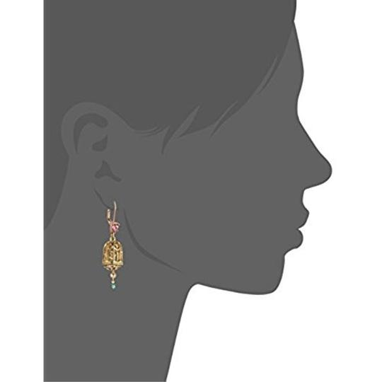 Betsey Johnson Betsey Johnson Gold-Tone Ballerina Mouse and Birdcage Mismatch Earring