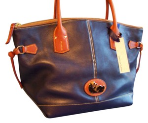 Dooney & Bourke Fairfield Leather Satchel Large Satchel Champosa Tote in Blue