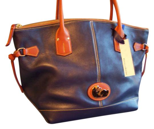 Preload https://item3.tradesy.com/images/dooney-and-bourke-fairfield-medium-champosa-satchel-blue-leather-tote-21124707-0-1.jpg?width=440&height=440