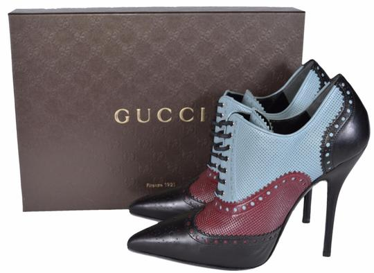 Gucci Stiletto Leather Multi-Color Boots