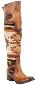 FreeBird Over The Knee Aztec Womens One Of A Kind. Brown Boots