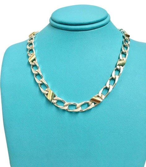 Preload https://img-static.tradesy.com/item/21124787/tiffany-and-co-18k-yellow-gold-ss-cuban-mariner-chain-link-necklace-0-1-540-540.jpg