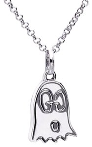 Gucci Sterling Silver Gucci Ghost Charm Necklace