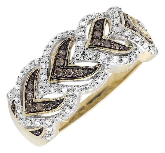 Preload https://img-static.tradesy.com/item/21124805/10k-yellow-gold-leaf-cognac-brown-and-white-diamond-wedding-band-025ct-ring-0-2-540-540.jpg