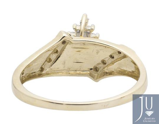 Other Marquise Composite Genuine Diamond Engagement Ring 0.10ct.