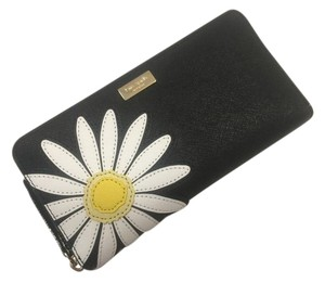 Kate Spade Kate Spade Daisy Neda Down the Rabbit Hole Black Leather Wallet