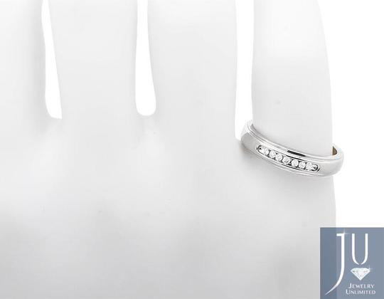 Other Men's 1 Row Channel Set Genuine Diamond Wedding Ring Band 0.15ct