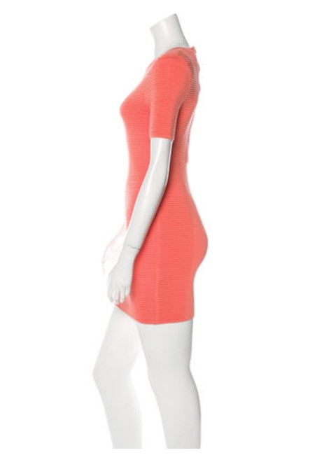 Torn by Ronny Kobo Coral Rib Knit Bodycon Short Casual Dress Size 2 (XS) Torn by Ronny Kobo Coral Rib Knit Bodycon Short Casual Dress Size 2 (XS) Image 2