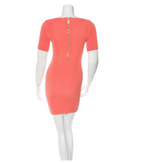Torn by Ronny Kobo Coral Rib Knit Bodycon Short Casual Dress Size 2 (XS) Torn by Ronny Kobo Coral Rib Knit Bodycon Short Casual Dress Size 2 (XS) Image 3