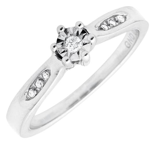 Other Round Miracle Set Genuine Diamond Engagement Ring 0.06ct.