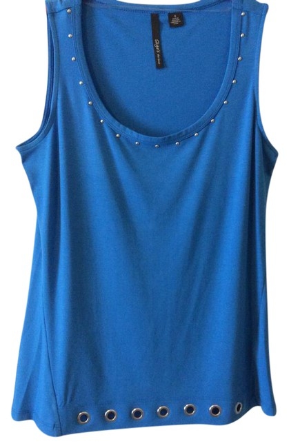 Preload https://img-static.tradesy.com/item/21125019/skye-s-the-limit-blue-women-small-with-silver-studs-tank-topcami-size-6-s-0-1-650-650.jpg