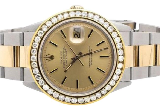 Rolex Stainless Steel 18k Gold Mens Datejust Two Tone 36mm 4.0 Ct Watch Rolex Stainless Steel 18k Gold Mens Datejust Two Tone 36mm 4.0 Ct Watch Image 1