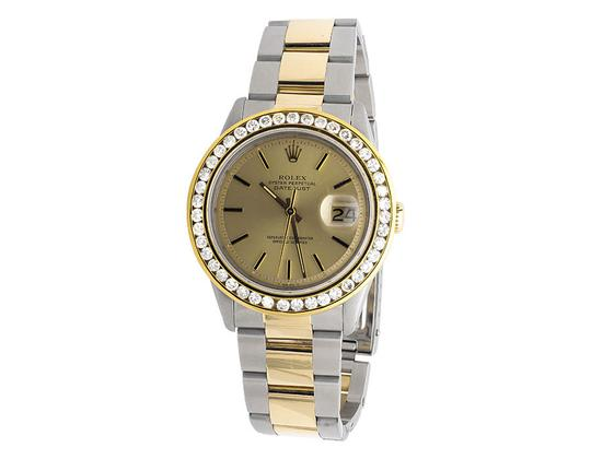 Rolex Mens Datejust Two Tone 18k Gold 36MM Stainless Steel Watch 4 Ct