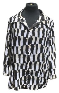 Essentials by Milano Top black and white and tan