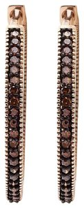 Other Red Diamond Pave Hoop Earrings