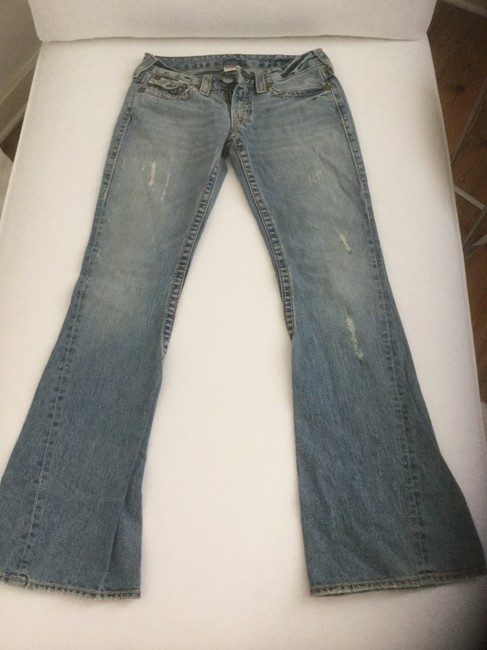 True Religion Flare Boot Cut Jeans-Distressed