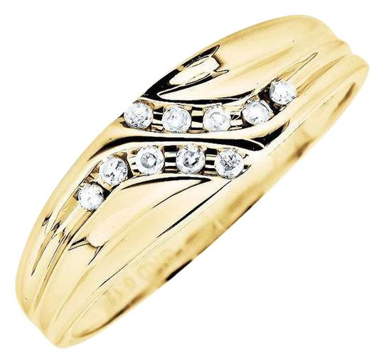 Preload https://img-static.tradesy.com/item/21125095/10k-yellow-gold-channel-set-diagonal-round-real-diamond-wedding-band-012ct-ring-0-1-540-540.jpg
