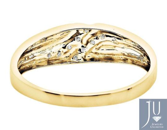 Other Channel Set Diagonal Round Real Diamond Wedding Band Ring 0.12ct