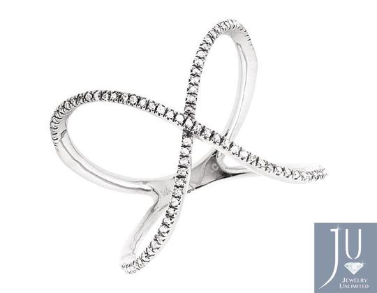 Other Swirl Ribbon Orbit Strand Diamond Fashion Cocktail Ring 0.30ct