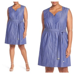 Ellen Tracy short dress blue on Tradesy