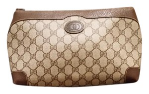 Gucci Brown GG monogram Clutch