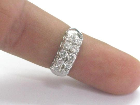Other Fine 2-Row Round Cut Diamond White Gold Jewelry Ring 1.02CT
