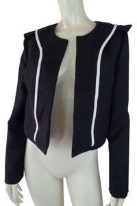 Chloé Shorty Open Front Cropped Heavy Lined Black Blazer