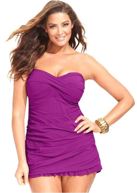 Preload https://img-static.tradesy.com/item/21125302/gottex-orchid-purple-twist-front-shirred-strapless-swimdress-swimsuit-one-piece-bathing-suit-size-22-0-1-650-650.jpg