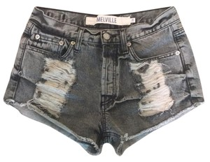 Brandy Melville Cut Off Shorts Faded Black