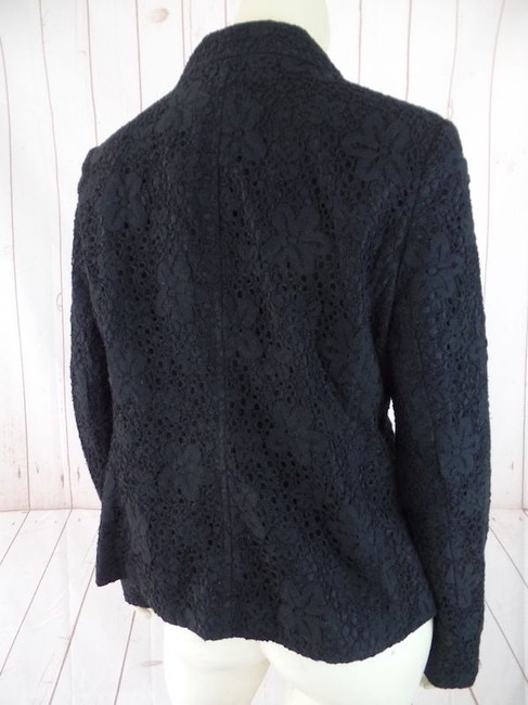 1 Madison Floral Lace New Pockets Lined Black Blazer