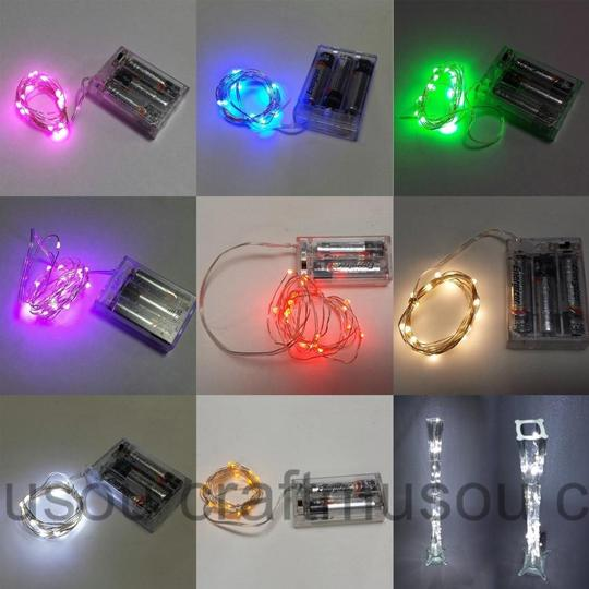 20 Pack 20 Led String Fairy Light 6.5ft Battery Powered Clear Copper C Other