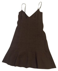 Theory short dress brown Linen V-neck Mini on Tradesy