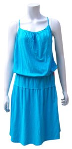 James Perse short dress Turquoise Midi Midcalf Stretchy on Tradesy