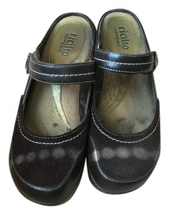 Rialto Faux Leather brown Mules